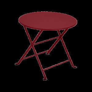 Table Bistro - Tom Pouce - Piment - Diamètre 55 cm