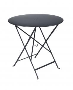 Table pliante Bistro - Fermob - Ø 77 cm - Carbone