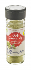 Sel fin de Guérande aux Légumes et Herbes Bio - Le Guérandais - Moulin de 90 g