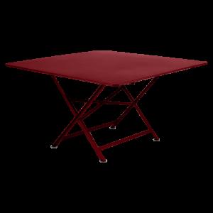 Table carrée pliante Cargo - Fermob - 128 x 128 cm - Rouge Piment