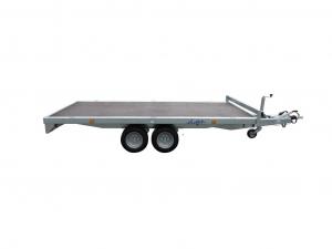 Remorque plateau - Lider - Réf. 34632 - Roues dessous - 3,50 m - 2000 Kg - 2 essieux