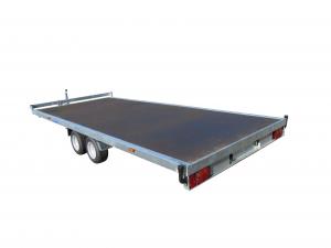Remorque plateau - Lider - Réf. 32670 - Roues dessous - 5 m - 2500 Kg - 2 essieux