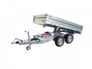 Remorque benne - Lider - Réf. 39600PE (Pompe électrique) - 2,50 m - 2500 Kg - 2 essieux
