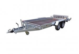 Remorque plateau - Lider - Réf. 34780 - Roues extérieures - 4,50 m - 3500 Kg - 2 essieux