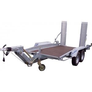 Remorque porte-engin - Lider - Réf. 35855L- Timon ALKO - 3 m - 2500 Kg - 2 essieux