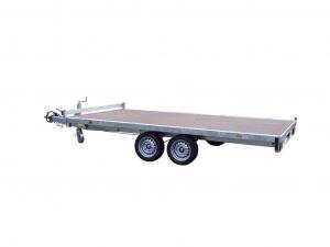 Remorque plateau -  Lider - Réf. 32680 - Roues dessous - 4 m - 3500 Kg - 2 essieux