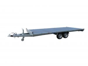 Remorque plateau - Lider - Réf. 32660 - Roues dessous - 5 m - 3500 Kg - 2 essieux