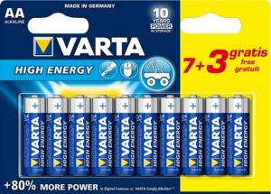 Piles High Energy LR06 - AA - Varta - 7+ 3 gratuites