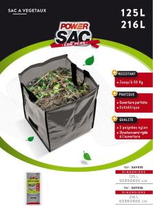 Sac Jardin à végétaux IDEES B CREATION - 60X60 216 L
