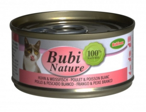 Bubi Nature Poulet & Poisson blanc pour Chats - Bubimex - 70 g