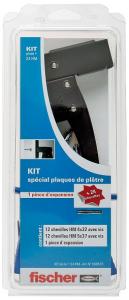 Kit spécial plaque de plâtre - Pince + 24 chevilles HM - Fischer