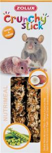 Crunchy Stick Noix de coco/Pois 115 g Zolux - Friandise pour rat et souris