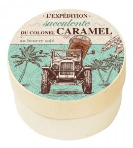 Caramel tendre Beurre salé et Fleur de Guérande - DV France - Boîte Voyages gourmands - 50 g
