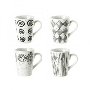 Coffret 4 tasses Palawan - Table Passion - Porcelaine - 18 cl