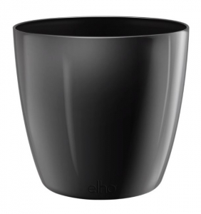 Pot Brussels Diamond Rond - Elho - 20 cm - Noir métal