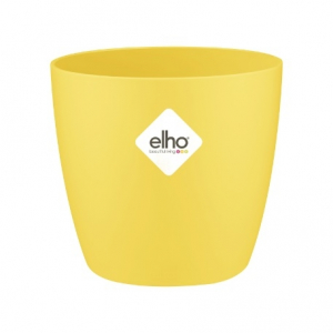Cache-pot Brussels Rond Mini - Elho - jaune - 9,5 cm