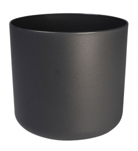 Cache-pot B.for Soft rond - Elho - Anthracite - 30 cm