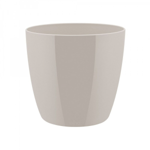 Cache-pot Brussels Diamond Round - Elho - gris chaud - 14 cm