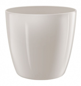 Pot Brussels Diamond Rond - Elho - 16 cm - Gris chaud