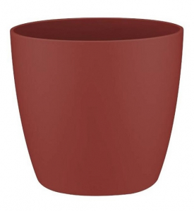 Pot Mini Brussels Rond - Elho - 9,5 cm - Rouge Bordeaux