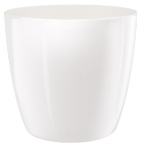 Cache-pot Brussels Diamond Round - Elho - blanc - 20 cm
