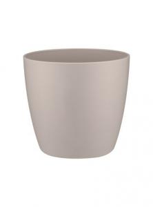 Cache-pot Brussels Rond Mini - Elho - gris clair - 7 cm
