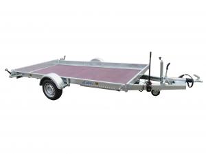 Remorque plateau abaissable - Lider - Réf. 36830 - 3,50 m - 1500 Kg - 1 essieu freiné