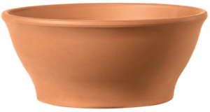 Coupe Ciotola Liscia - Deroma - terre cuite - hauteur 13 cm - Ø13 cm
