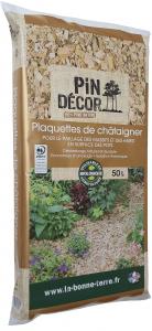 Plaquettes de châtaigniers BIOLANDES PIN DECOR - 10/40 mm 50 L
