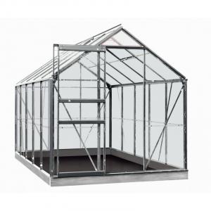 Serre Lily en verre sécurit 3 mm - ACD - 6,2 m² - Alu naturel