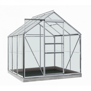 Serre Daisy en verre sécurit 3 mm - ACD - 3,8 m² - Alu naturel