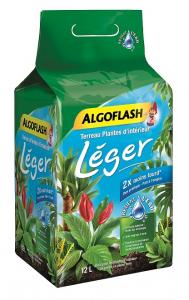Terreau léger plantes d'intérieur - Algoflash - 12 litres