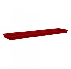 Soucoupe bac rectangle Roméo - Poetic -rouge - 80 cm