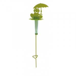Support pluviomètre à piquer Grenouille - Louis Moulin - Vert anis
