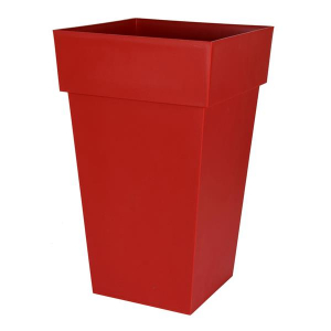 Pot - Toscane - Carré - 62 L - Rouge Rubis