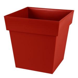 Pot -Toscane - Carré - 38 L - Rouge rubis