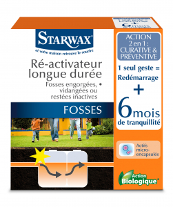 Ré-activateur longue durée pour fosses septiques - Starwax - Boîte de 500 gr