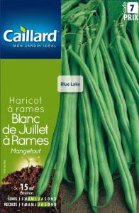 Haricot à rames Mangetout Blanc de Juillet - Graines - Caillard