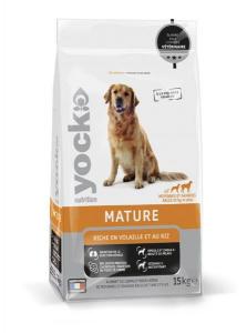 Croquettes Yock Nutrition Mature - Race moyenne et grande - 15 kg