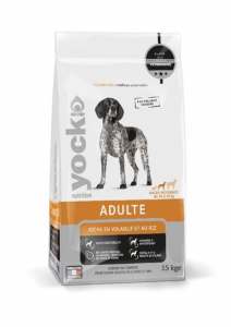 Croquettes Yock Nutrition Adulte - Race moyenne - 15 kg