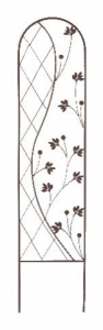 Treillis métallique Yin & Yang - 35 x150 cm - Brun