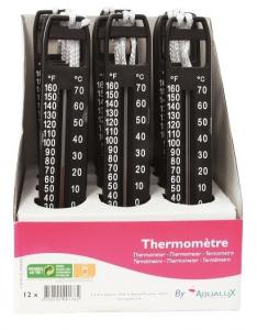 Thermomètre pour piscines - Aqualux - grand modèle - noir