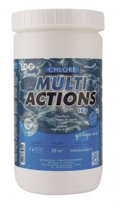 Chlore lent multi-actions - EDG by Aqualux - galets de 20 gr - 1 kg