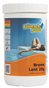 Brome permanent - pastille 20 gr - Planet pool - 1 kg