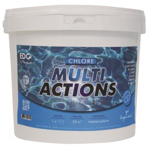 Chlore multi actions - EDG by Aqualux - galets de 250 gr - 5 kg
