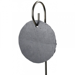Etiquette ronde en ardoise - Comptoir Botanique - ⌀ 9 cm