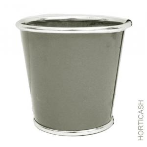 Cache pot en zinc - Horticash - gris - Ø 13.5 cm