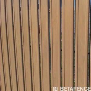 Occultations Screeno Line en PVC pour panneaux - Betafence - bois naturel - 1.03 m