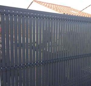 Occultations Screeno Line en PVC pour panneaux - Betafence - gris anthracite - 1.03 m