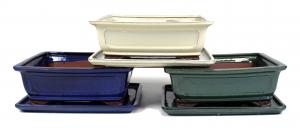 Pot basic classic rectangle - 25 cm avec plateau